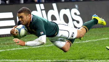 Bryan Habana awarded IRPA Try of the Year 2012 for try vs All Blacks