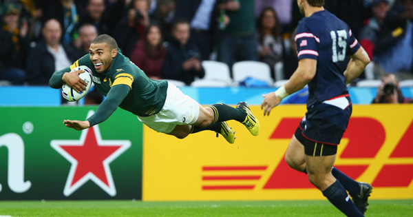 South Africa crush USA as Habana equals Lomu's RWC tries record