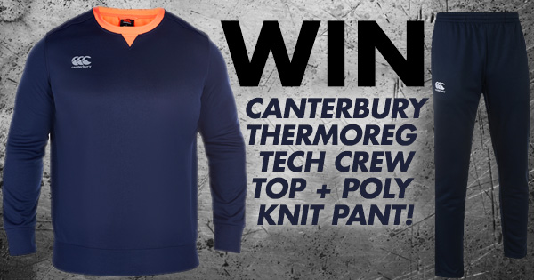 Win the NEW Autumn Winter Canterbury Training Kit!