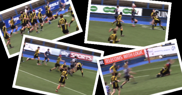 Cardiff Schools U15 throw ridiculous offloads for a great try