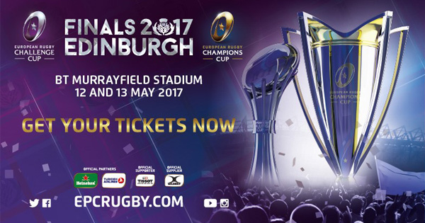 Win Tickets to the European Rugby Champions Cup Final in Edinburgh