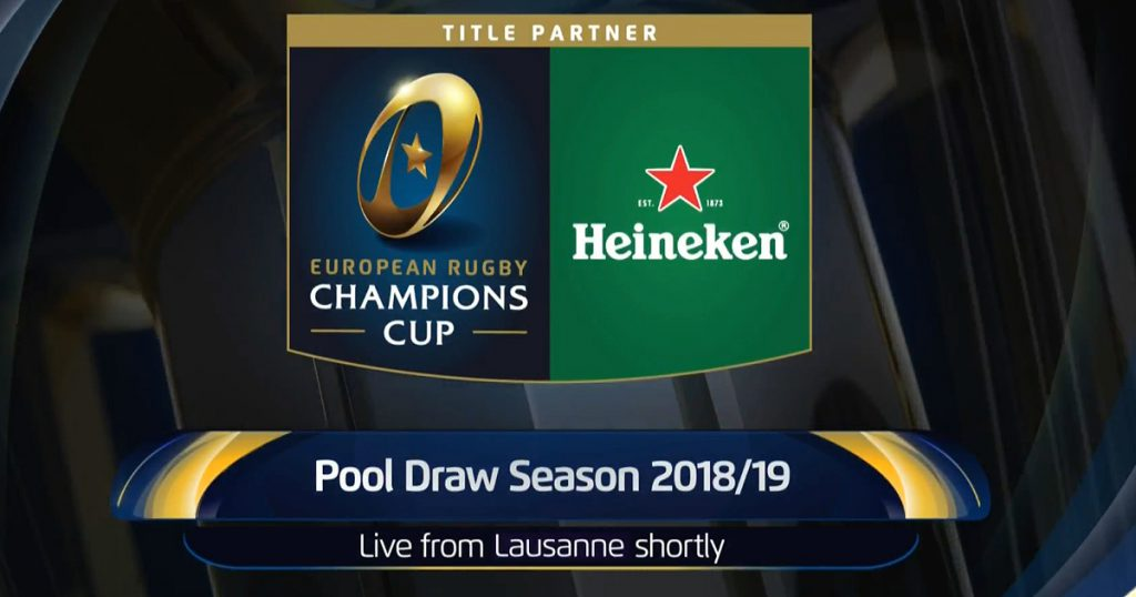 WATCH LIVE: European Champions & Challenge Cup 2018/2019 Pool Draws