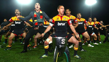 The Chiefs victory wardance after their Super Rugby title win
