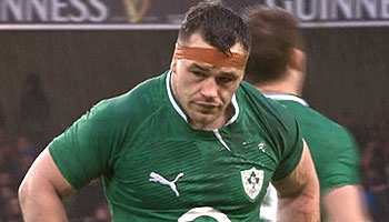 Cian Healy banned for three weeks for leg stamp on Dan Cole