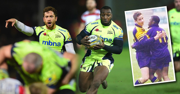 Danny Cipriani's stunning chip kick provides childhood friend Nev Edwards with a great Sale Sharks try