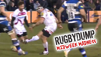 Midweek Madness - Moldovan prop's drop goal attempt doesn't reach the tryline