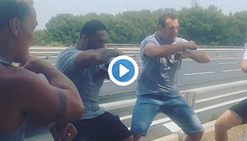Neemia Tialata and other former All Blacks' roadside Haka tribute to Jerry Collins