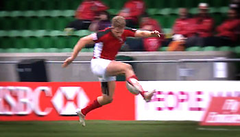 Canadian Conor Trainor's sublime foot control at the Glasgow Sevens