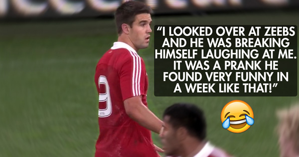 Simon Zebo's prank on Conor Murray during Lions 2013 tour match!