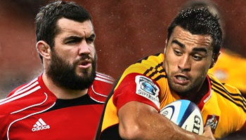 Corey Flynn and Liam Messam tussle sorts itself out