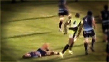 Courtney Lawes huge hit in pre-season game vs Bedford Blues