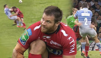 Craig Burden smashes Schalk Brits not once but twice in Heineken Cup Final
