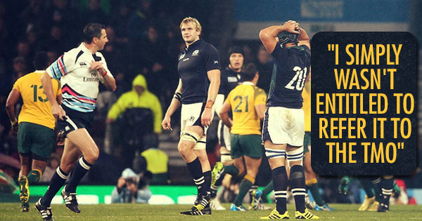 Craig Joubert breaks silence on THAT decision against Scotland in the 2015 World Cup