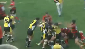 Massive 30-man fight in Georgia's top league in Tbilissi