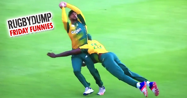 Friday Funnies - South African cricketer makes near perfect tackle, on his teammate!