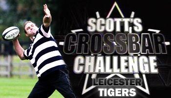 Scott Quinnell's crossbar challenge - Leicester Tigers