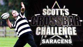 Scott Quinnell's crossbar challenge - Saracens