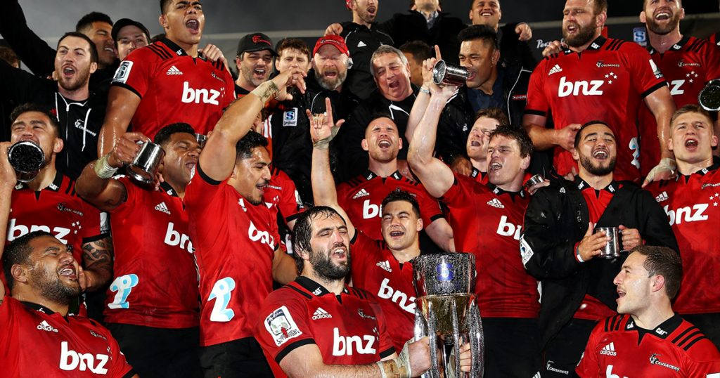 Crusaders win ninth Super Rugby title with convincing victory over the Lions