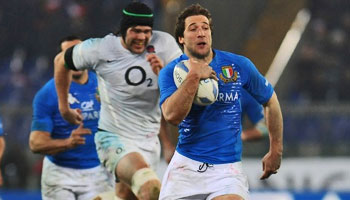England edge past Italy in the snow of Rome