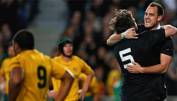 The All Blacks retain the Bledisloe Cup with convincing win over the Wallabies