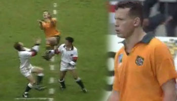 Damian Smith try vs England - 1995 Rugby World Cup