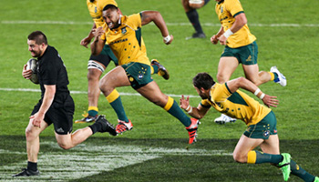 New Zealand hold onto Bledisloe Cup with punishing win over Australia