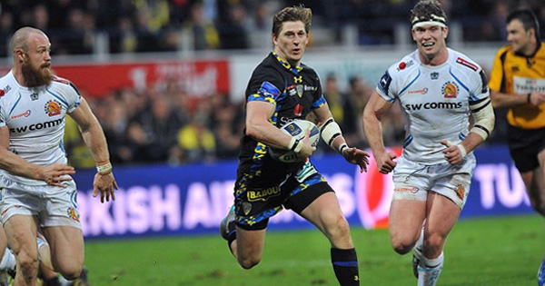 David Strettle scores another quality try for Clermont in Exeter romp
