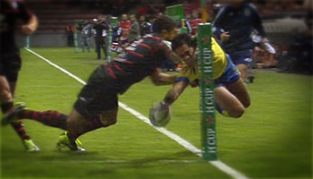 Dion Berryman scores with incredible finish in the corner against Toulouse