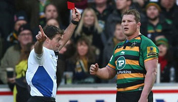 Dylan Hartley facing hefty ban after red card for elbowing Matt Smith