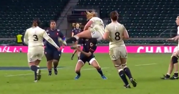 France's Caroline Boujard cited after reckless mid-air tackle
