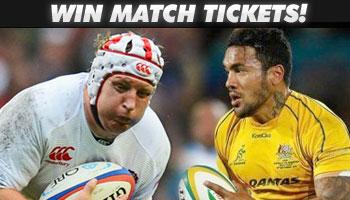 WIN tickets to watch England vs Australia at Twickenham!
