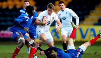 Prop Luke Cowan-Dickie flick pass sets up try for England U20 vs France U20