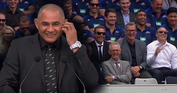 Eric Rush's hilarious, heartfelt eulogy to friend and teammate Jonah Lomu