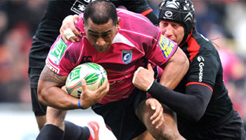 Taufa'ao Filise scores a great prop try for Cardiff Blues