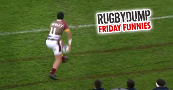 Friday Funnies - Fake Lineout Dummy Goes Horribly Wrong