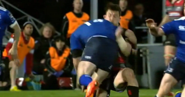 Fergus McFadden suspended for three weeks for this dangerous high tackle