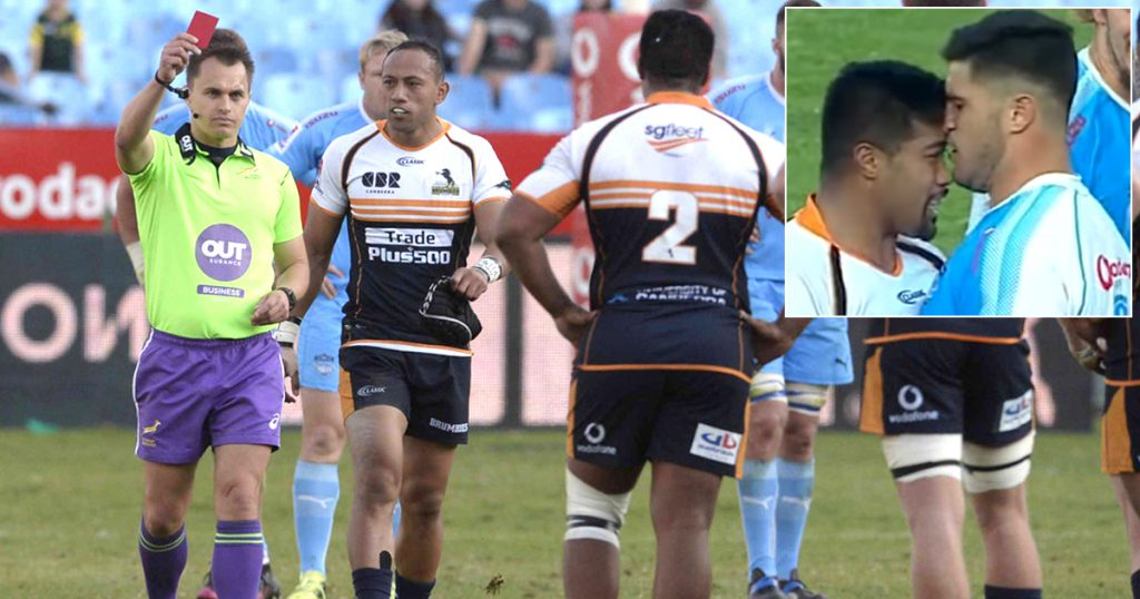A headbutt is a headbutt as Folau Fainga'a gets red carded and suspended