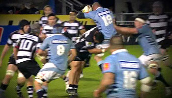 Huge tackle from Hawkes Bay's Hikairo Forbes against Northland