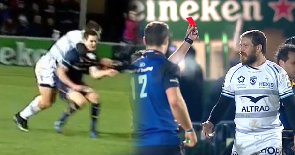Francois Steyn red carded for attempting to take Johnny Sexton's head off