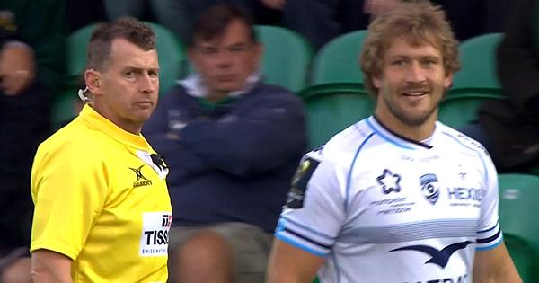 Nigel Owens unimpressed by naughty Francois Steyn shouting at goalkicker