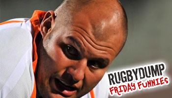 Friday Funnies - CJ van der Linde shows us why he's not a scrumhalf