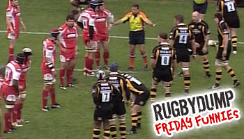 Friday Funnies - The Ref organising the lineout