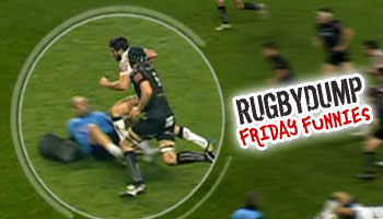 Friday Funnies - Physio halts Zebre attack with tackle on own player