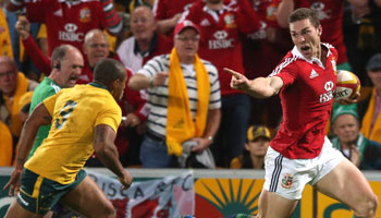 The British and Irish Lions win the first Test as Kurtley Beale misses late penalties