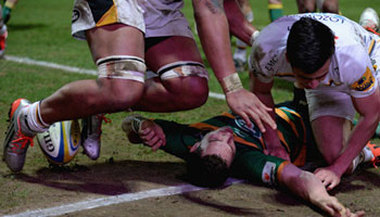 George North knocked out again as Nathan Hughes gets red card for knee