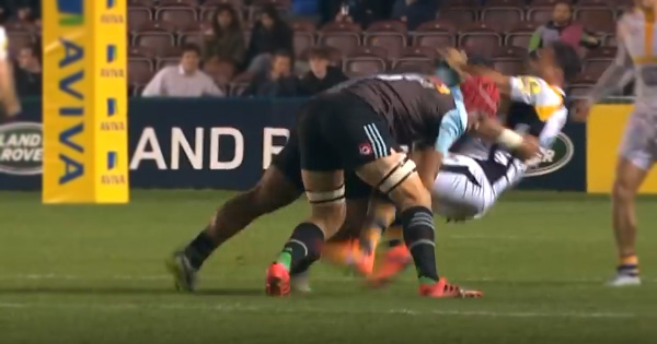 Wallaby great George Smith welcomed to the Premiership by huge Harlequins double hit