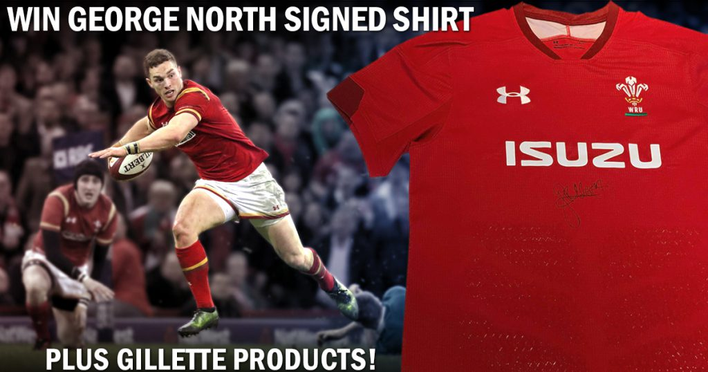 WIN: George North signed Wales shirt PLUS Gillette products