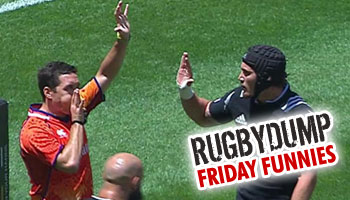 Friday Funnies - Gillies Kaka high-fives himself after try in PE Sevens knockouts