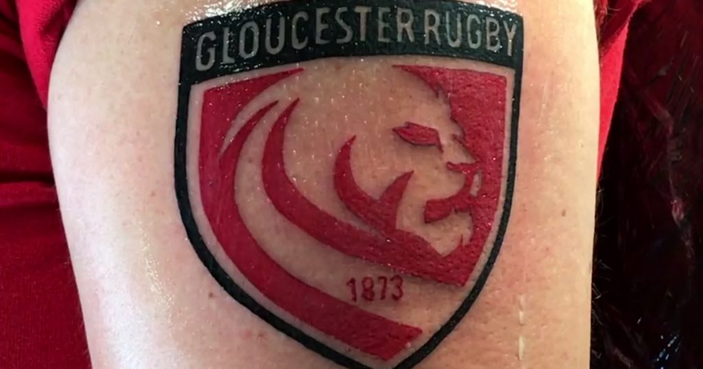 Gloucester have dealt with old tattoos after new emblem caused consternation