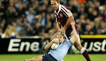 Gordon Tallis' famous slingshot tackle on Brett Hodgson